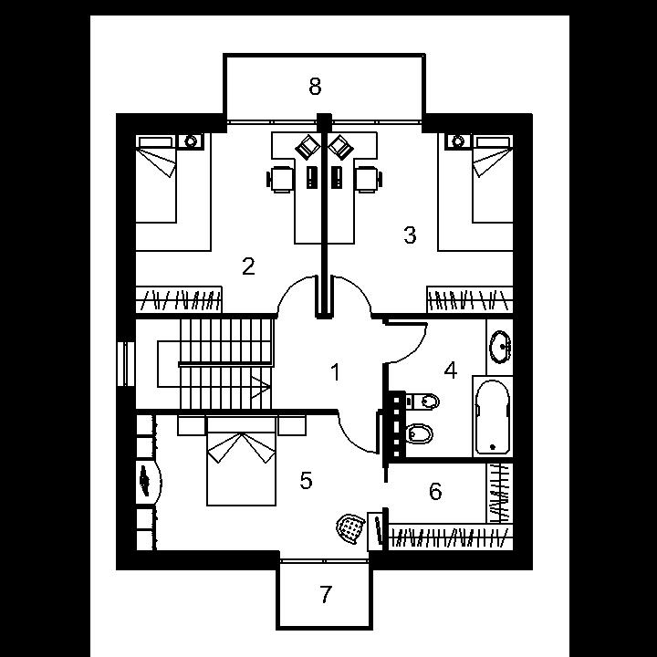 Progetto di una casa di due piani mantvydas for Piani di casa ranch online